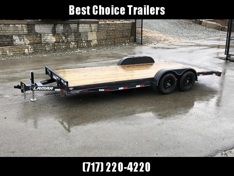 2021 Lamar 7x20' Car Hauler Trailer 9990# GVW * CHARCOAL POWDERCOATING * 7K DROP LEG JACK * CHANNEL C/M * ADJUSTABLE COUPLER * RUBRAIL