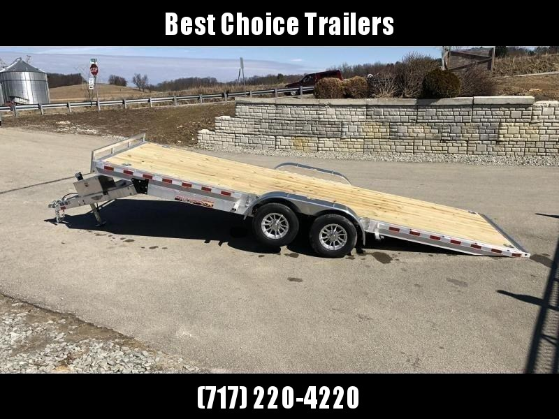 "2021 H&H 7x20' Aluminum Power Tilt Car Hauler Trailer 9990# GVW * POWER TILT * ALUMINUM TOOLBOX * 8"" CHANNEL FRAME * REMOVABLE FENDERS * ALUMINUM WHEELS * DROP JACK * INTEGRATED TAIL LIGHTS"