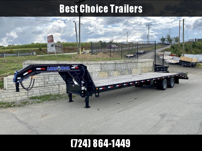 2020 Load Trail 102x34' Gooseneck Flatbed Deckover Trailer 24000# GVW * 12K DEXTER AXLES * EOH DISC BRAKES * FLIP-OVER RAMPS * HDSS SUSPENSION * RUBRAIL/STAKE POCKETS/PIPE SPOOL * OIL BATH HUBS * DUAL JACKS * SPARE TIRE * PRIMER * 2-3-2 WARRANTY