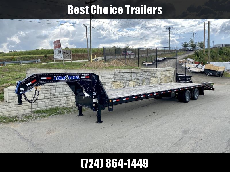 2020 Load Trail 102x34' Gooseneck Flatbed Deckover Trailer 24000# GVW * 12K DEXTER AXLES * EOH DISC BRAKES * HDSS SUSPENSION * 2-25K DUAL JACKS * RUBRAIL/STAKE POCKETS/PIPE SPOOL * OIL BATH HUBS * SPARE TIRE * PRIMER * 2-3-2 WARRANTY