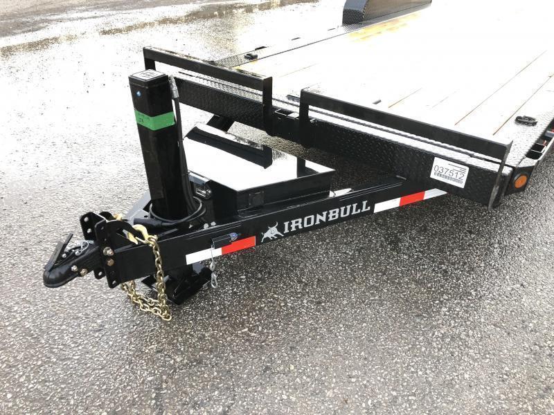 2022 Ironbull 7x22' Power Tilt Equipment Trailer 16000# GVW * 8000# DEXTER TORSION AXLES * LOW LOADING ANGLE * POWER TILT * WINCH PLATE * REMOVABLE FENDERS * RUBRAIL/STAKE POCKETS/PIPE SPOOLS/D-RINGS * IRONCLAD WARRANTY