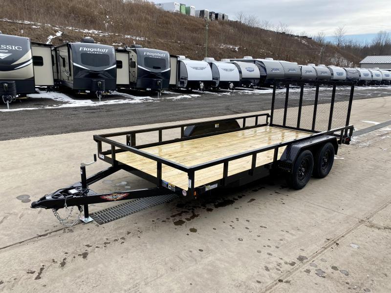 2021 AMP 7x16' 7000# landscape trailer h8216trs-070