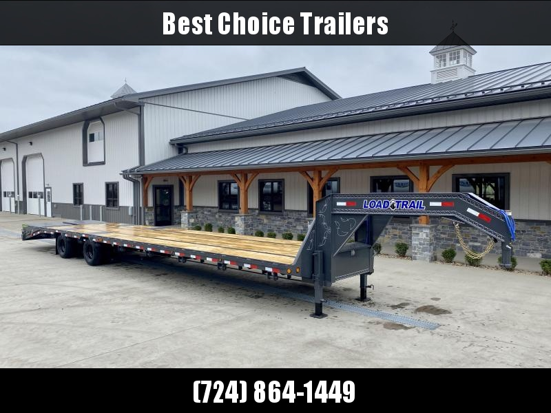 2021 Load Trail 102x40' Gooseneck Flatbed Deckover Trailer 22000# GVW * HOTSHOT TRAILER * 10K DEXTER AXLES * FULL WIDTH RAMPS * HDSS SUSPENSION * RATCHETS WELD ON * UNDER FRAME BRIDGE * TORQUE TUBE * PIERCED FRAME