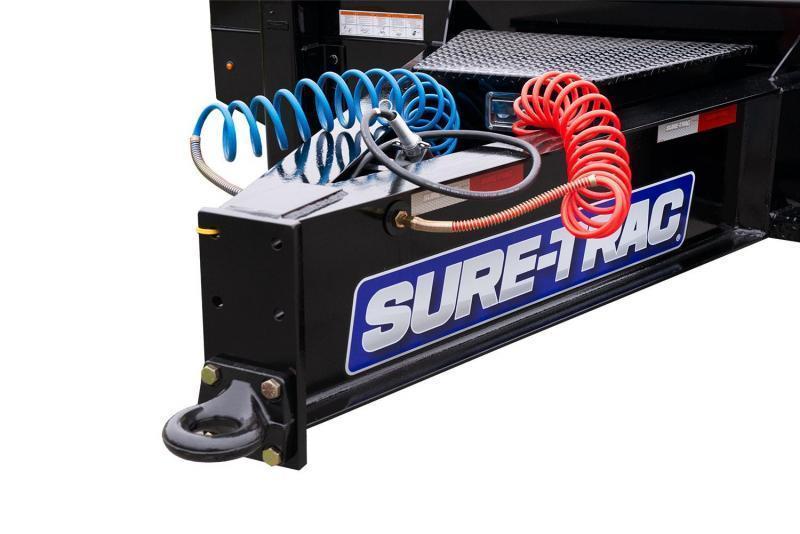 "2020 Sure Trac  102x24+7.5' Air Brake Beavertail Deckover Trailer 49000# GVW * 40X80 WOOD FILLED AIR RAMPS 40x80 * 7.5' DOUBLE BROKE BEAVERTAIL * 14"" PIERCED I-BEAM FRAME * 2"" OAK DECK * HUTCH 9700 SUSPENSION * DUAL 50K 2-SP JACKS * TOOLBOX * (12) 1"" D-RI"