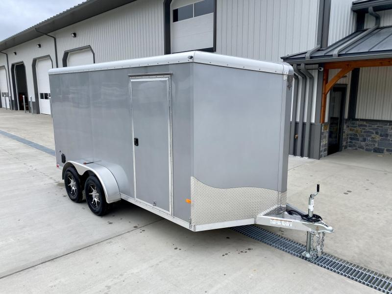 "2021 NEO Trailers 7X14' NAVR Aluminum Enclosed Cargo Trailer  * SILVER * SIDE VENTS * ALUMINUM WHEELS * TIE DOWNS * 16"" O.C. FLOORS * RAMP DOOR"
