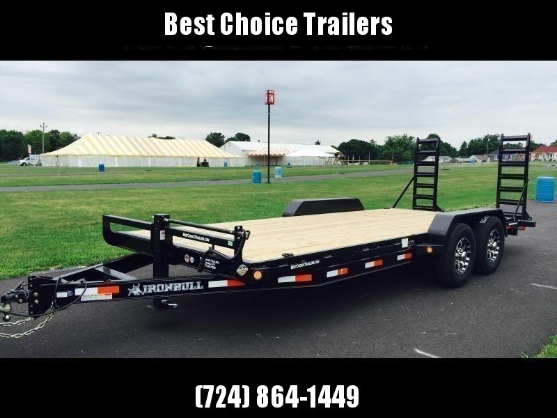 """2021 Ironbull 7x22' Equipment Trailer 14000# GVW * KNIFEEDGE RAMP W/ ADJUSTABLE SUPPORT * REMOVABLE FENDERS * 16"""" O.C. STRUCTURAL CHANNEL C/M * RUBRAIL/STAKE POCKETS/PIPE SPOOLS/D-RINGS * ADJUSTABLE CAST COUPLER * 12K JACK * DEXTER'S * CLEARANCE"""
