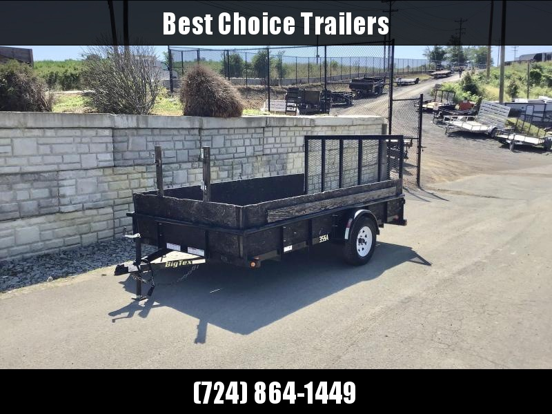 USED 2016 Big Tex Trailers 78x12' 2995# GVW Utility Trailer * PIPE TOP/TUBE GATE * SPARE TIRE MOUNT * WOOD SIDES