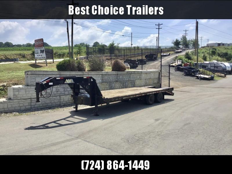 USED 2013 Sure-Trac 102x20+5' Gooseneck Beavertail Deckover Trailer 25900# GVW * TOOLBOX * DUAL JACKS * POP UP DOVE * RUBRAIL/STAKE POCKETS/CHEAIN SPOOL/D-RINGS