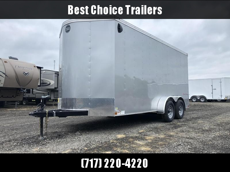 2021 Wells Cargo 7x16' Fastrac DELUXE Enclosed Cargo Trailer 7000# GVW * CHARCOAL * RAMP DOOR * V-NOSE * 7' HEIGHT UTV PACKAGE