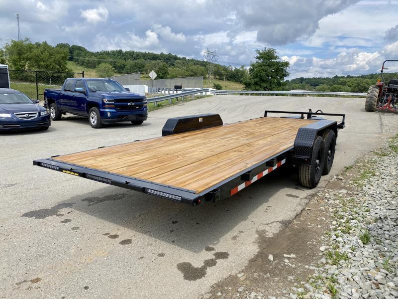 "2021 H&H 7x22' Power Tilt Car Hauler Trailer 14000# GVW * POWER TILT * D/S TOOLBOX * 6"" FRAME * DROP JACK * INTEGRATED TAIL LIGHTS * CHANNEL C/M"