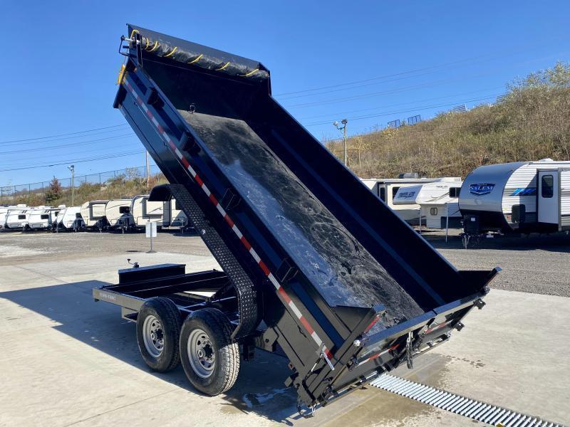 2022 Sure-Trac 7x16' LowPro HD Dump Trailer 14000# GVW * DELUXE TARP KIT * SCISSOR HOIST * 12K JACK