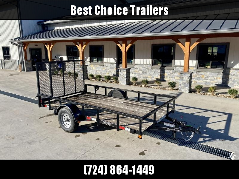 """USED 2020 Quality Trailers 77x12' Tube Top Utility Landscape Trailer 2990# GVW * 15"""" RADIALS * 2x2"""" TUBE TOP RAIL * 3"""" CHANNEL TONGUE * 2"""" A-FRAME COUPLER * SWIVEL JACK * LED LIGHTS * LAY FLAT GATE"""