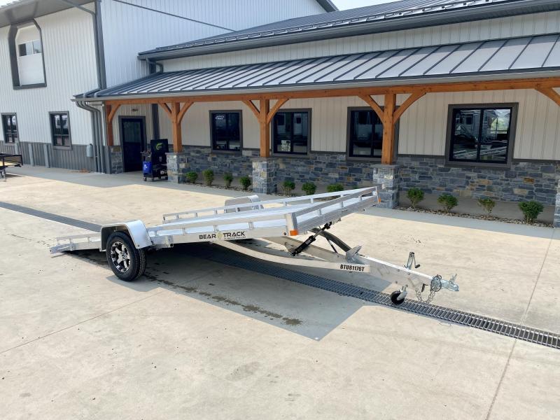 2022 Bear Track 7x15' Tilt Aluminum Utility Landscape Trailer * EXTRUDED ALUMINUM FLOOR * TORSION SUSPENSION * ALUMINUM WHEELS * CUSHION TILT * IDEAL FOR UTV/GOLF CART/ATV