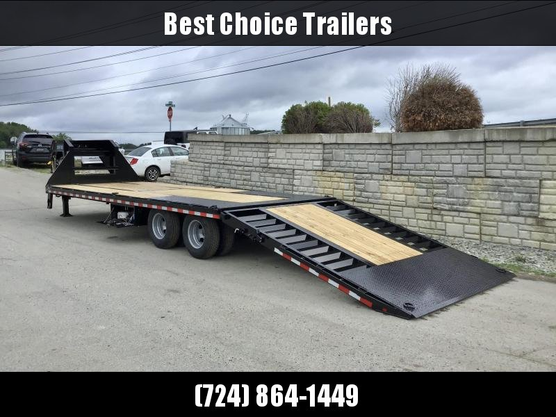"2020 Sure-Trac 102x22+10' Gooseneck Hydraulic Dovetail Deckover Trailer 22500# GVW * DUAL HYDRAULIC JACKS * 10' CLEATED DOVETAIL * DUAL 5"" LIFT CYLINDERS * PIERCED FRAME * CROSS TRAC BRACING * RUBRAIL/STAKE POCKETS/PIPE SPOOLS/10 D-RINGS * LOW LOAD ANGLE!"