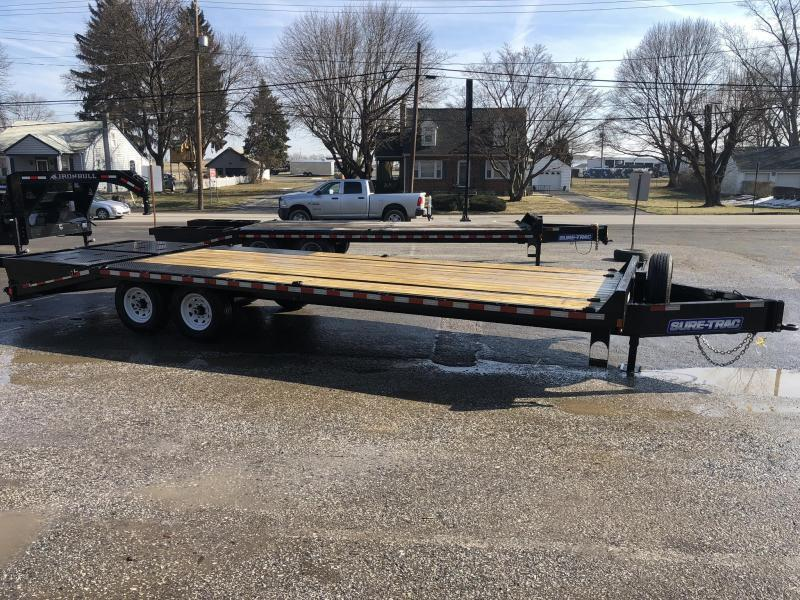 """2021 Sure-Trac 102x25' HD Beavertail Deckover Trailer 15000# GVW * FULL WIDTH RAMPS (STAND UP OR FLIPOVER) * INTEGRATED TOOLBOX * DUAL JACKS * 12"""" I-BEAM MAINFRAME * PIERCED FRAME * RUBRAIL/STAKE POCKETS/PIPE SPOOLS/10 D-RINGS * CROSS TRAC BRACING"""
