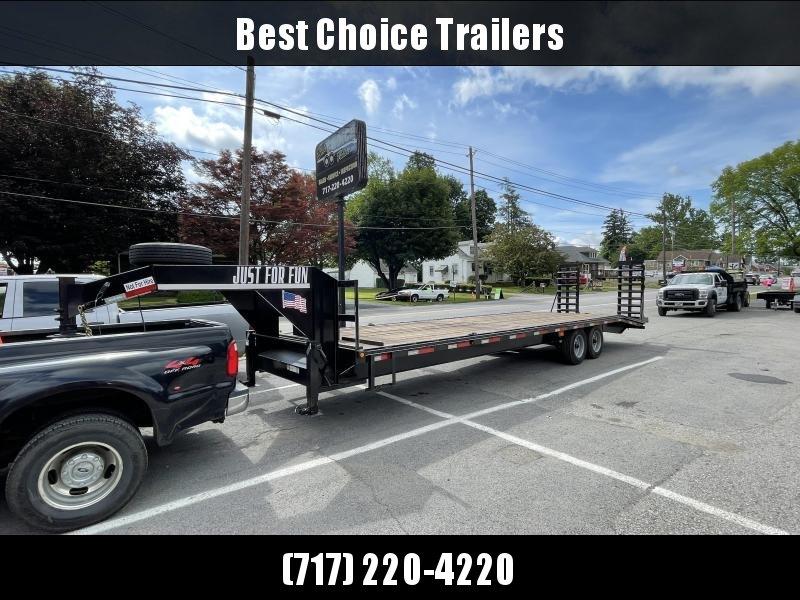USED 2018 Appalachian 102x25+5' Gooseneck Beavertail Deckover 20000# GVW * SPARE TIRE * TOOLBOX * WINCH * 8000# AXLES