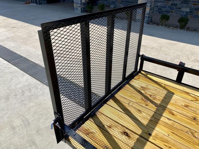 """2021 AMO 5x10' Angle Iron Utility Landscape Trailer 2200# GVW * GATE * A-FRAME TONGUE * A-FRAME JACK * 2"""" BALL * CLEARANCE"""
