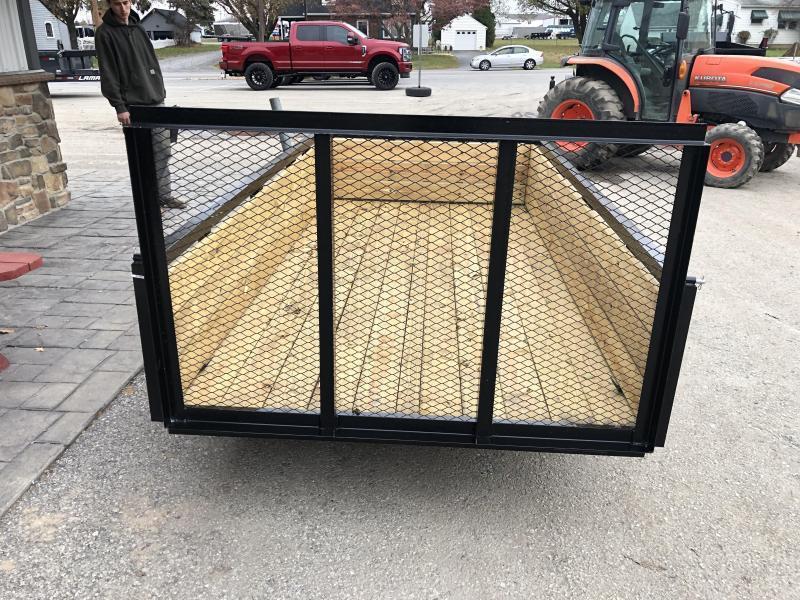 """2022 AMO 5x10' Wood High Side Angle Iron Utility Landscape Trailer 2200# GVW * 3-BOARD HIGH SIDE * GATE * A-FRAME TONGUE * A-FRAME JACK * 2"""" BALL"""