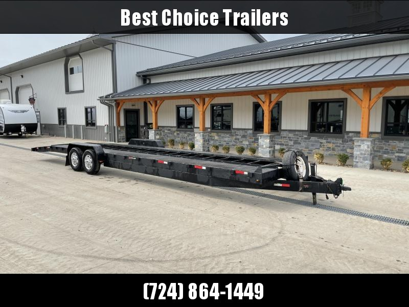2007 Down 2 Earth Trailers 7x34' 2-Car Hauler Trailer * STEEL RUNNERS * SPARE TIRE
