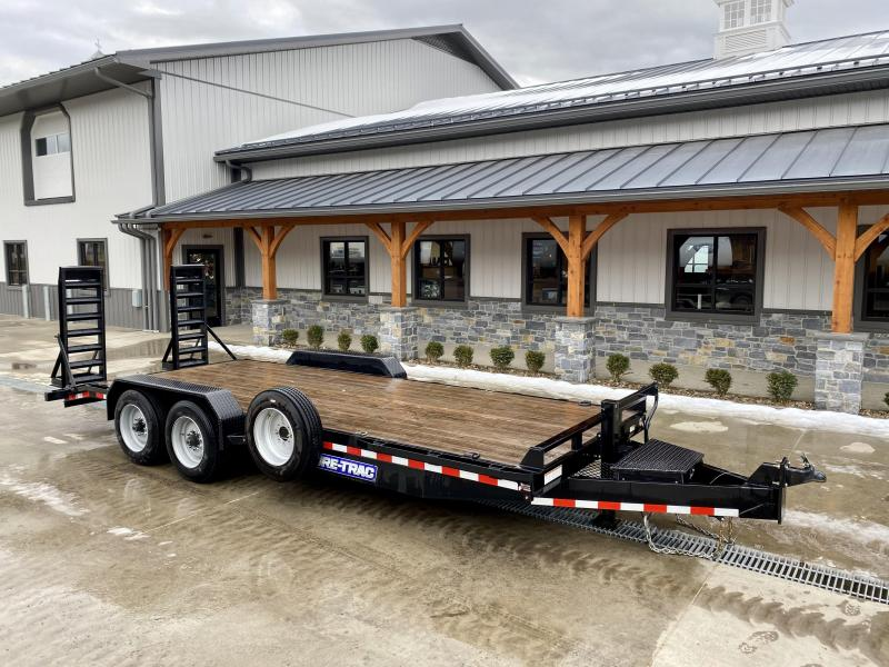 "USED 2019 Sure-Trac 7x20' Equipment Trailer 16000# GVW * 8000# AXLE UPGRADE * HD 4"" CHANNEL STAND UP RAMPS W/ SPRING ASSIST * 17.5"" 16-PLY RUBBER * 3 3/8"" BRAKES * 8"" TONGUE * HD COUPLER * 12K JACK * RUBRAIL/STAKE POCKETS/D-RINGS * SPARE TIRE"