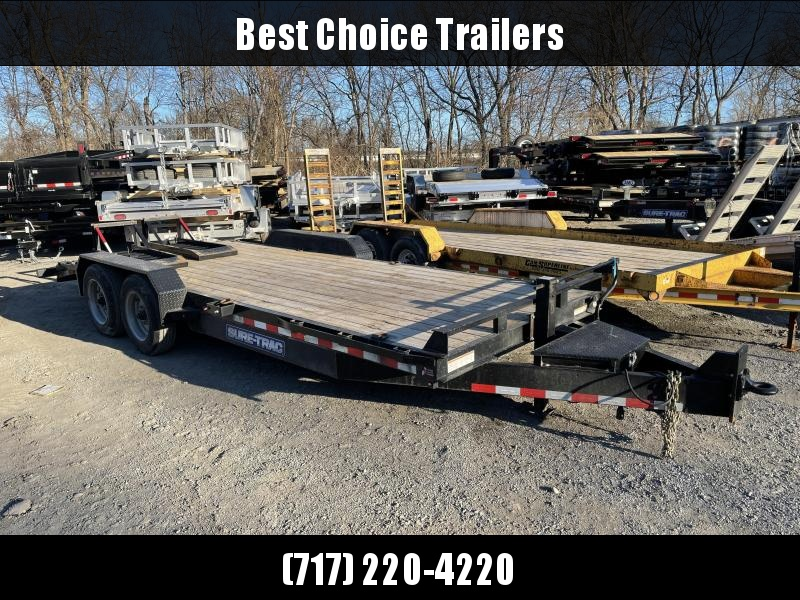 "USED 2019 Sure-Trac 7x20' 16000# Equipment Trailer * 8000# AXLES * 17.5"" TIRES * 8"" TONGUE * 4"" RAMPS * TOOLBOX"