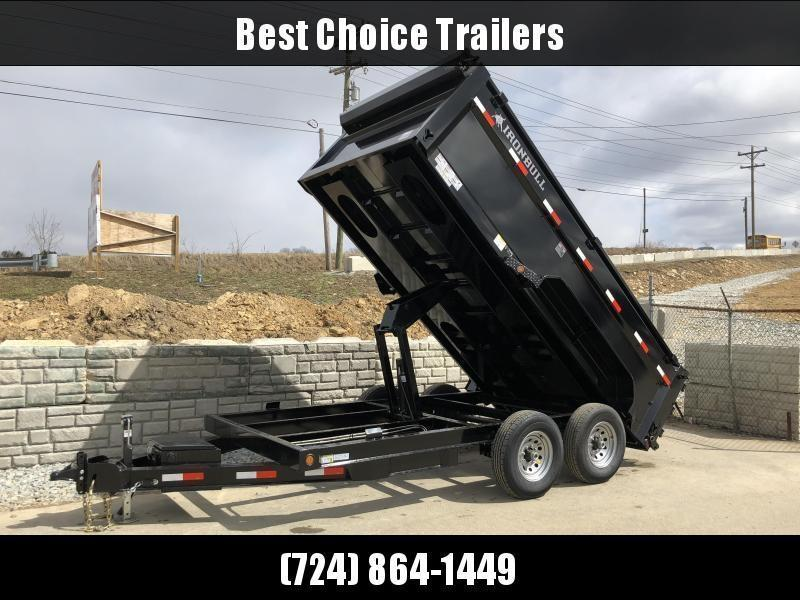2021 Ironbull 7x14' High Side Dump Trailer 14000# GVW * 12K JACK * 7 GA FLOOR * RAMPS * TARP * SCISSOR * SPARE MT * 3' SIDES