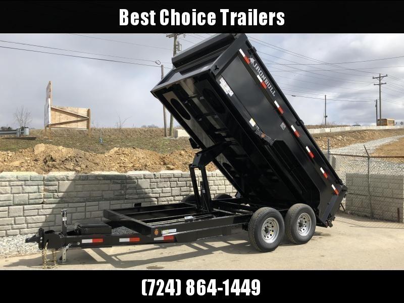 2021 Ironbull 7x14' High Side Dump Trailer 14000# GVW * 12K JACK * 7 GA FLOOR * RAMPS * TARP * SCISSOR * SPARE MT * 3' SIDES
