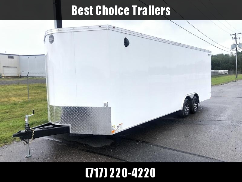 2021 Wells Cargo 8.5x24' Enclosed Race Car Hauler Trailer 9990# GVW * BLACK EXTERIOR * FINISHED FLOOR/WALLS/CEILING * BASE/OVERHEAD CABINETS * ELECTRIC PKG