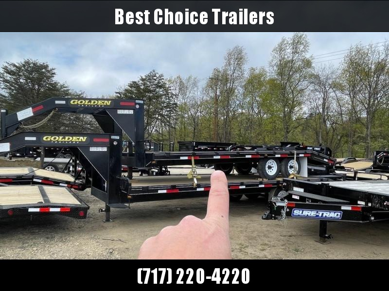2021 Golden by Corn Pro 102x20 Gooseneck Beavertail Deckover Trailer 9990# GVW * STAND UP RAMPS + SPRING ASSIST * RUBRAIL/STAKE POCKETS * SPARE TIRE MOUNT * MUDFLAPS * CHAIN TRAY