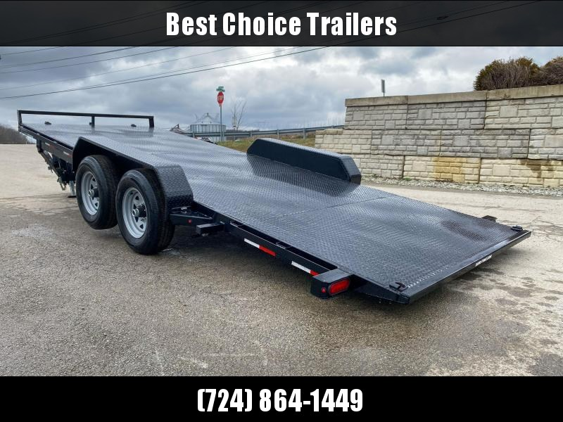 2020 Sure Trac 7x20' Power Tilt Car Trailer 9900# GVW * STEEL DECK UPGRADE * LOTS OF TIE DOWNS * REMOVABLE FENDER * POWER TILT