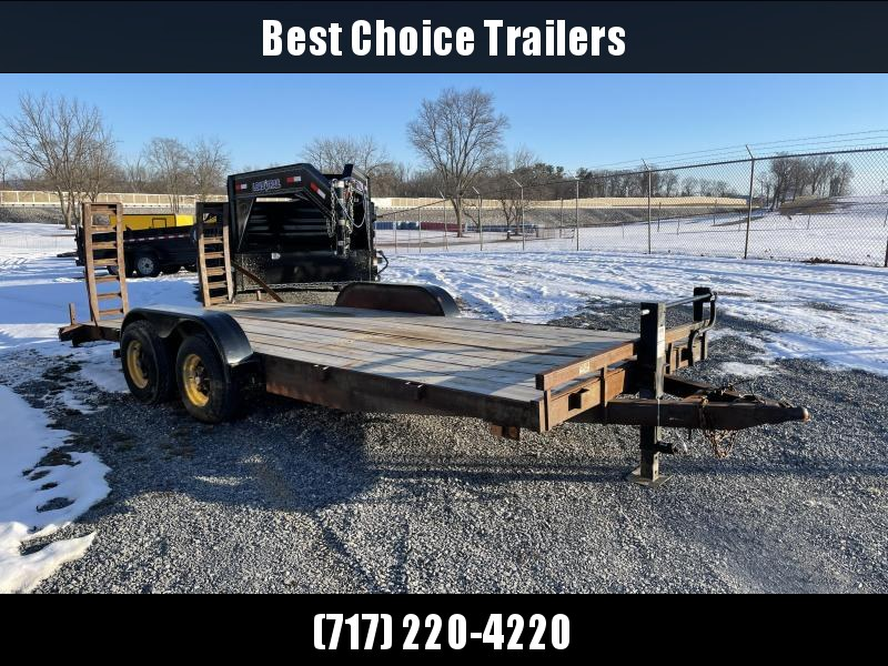 USED International 7x18' Equipment Trailer 8000# GVW