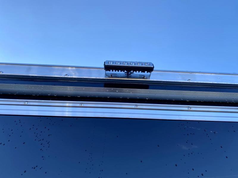 "2021 Neo 7x22' NASF Aluminum Enclosed All-Sport Trailer 7000# GVW * 7' HEIGHT UTV PKG * BLACK EXTERIOR * FRONT/REAR NXP RAMP * VINYL WALLS * SPORT TIE DOWN SYSTEM * 16"" O.C. FLOOR * PRO STAB JACKS * UPPER CABINET * ALUMINUM WHEELS * SCREWLESS * 1 PC ROOF"