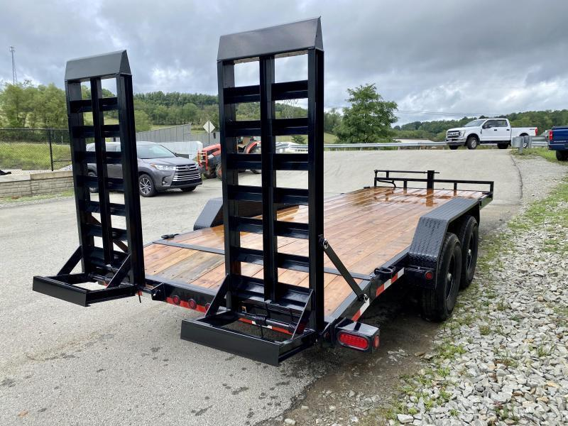 2021 Load Trail 7x24 Equipment Trailer 14000# GVW * DELUXE STAND UP RAMPS * D-RINGS/STAKE POCKETS * ADJUSTABLE COUPLER * DUAL 12K DROP LEG JACKS * COLD WEATHER * DEXTERS * 2-3-2 * POWDER PRIMER
