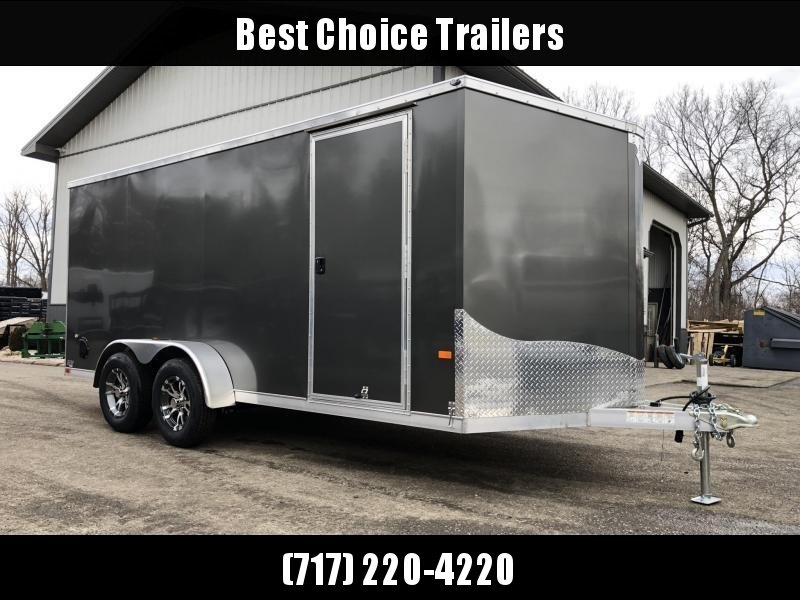 2021 Neo 7x16 NAVF Aluminum Enclosed Cargo Trailer * RAMP DOOR * SIDE VENTS * ALUMINUM WHEELS * BLACK