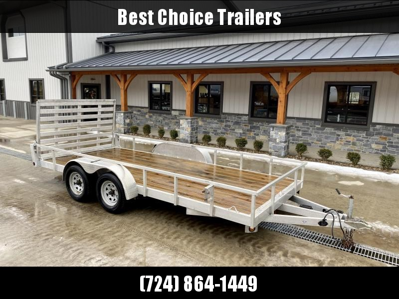 USED 2017 Quality Steel and Aluminum 7x14' Tube Top Aluminum Utility Landscape Trailer 7000# GVW * TRIPLE TUBE TONGUE * SPARE MOUNT * TIE DOWNS