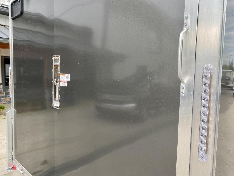 2021 NEO 8.5x22' NMS Aluminum Enclosed All Sport Car Hauler Trailer 9990# GVW * CHARCOAL * BIKES UTV'S SNOWMOBILE CARS ATV'S * ROUND TOP * ALUM WHEELS * 5200# TORSION * VINYL WALLS * FRONT RAMP * ESCAPE HATCH