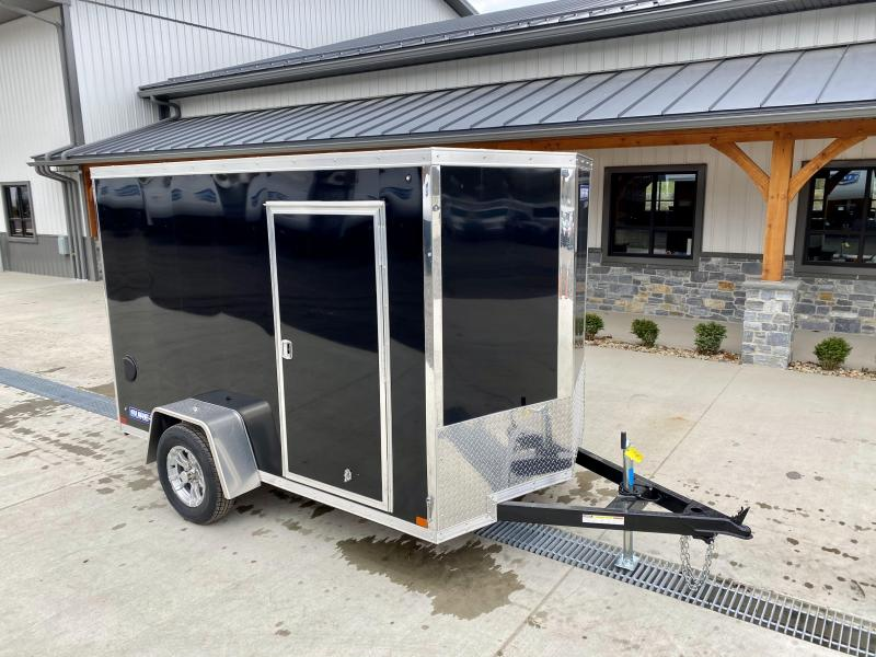 "2021 Sure-Trac 6x10' Pro Series Enclosed Cargo Trailer 2990# GVW * BLACK EXTERIOR * V-NOSE * RAMP * .030 SCREWLESS EXTERIOR * ALUMINUM WHEELS * 1 PC ROOF * 4"" TUBE FRAME * 16"" O.C. WALLS * PLYWOOD * TUBE STUDS * CEILING LINER * RV DOOR"