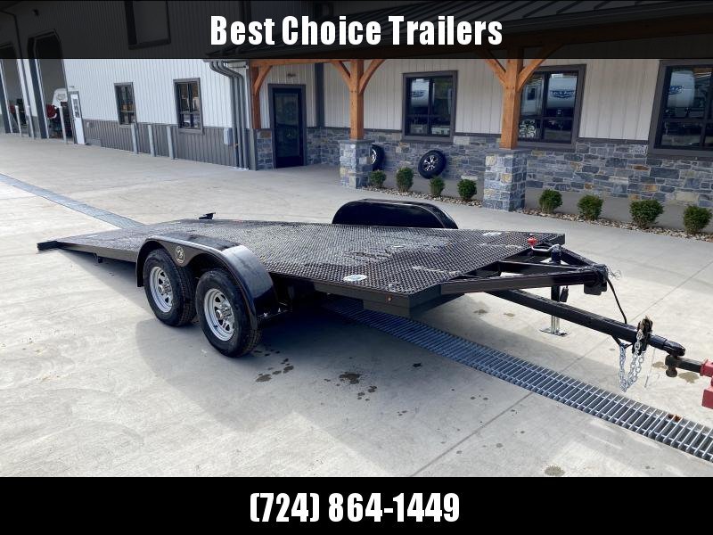 2020 Kwik Load 7x18' Texas Rollback Car Trailer 7000# GVW * LOW LOAD ANGLE * STEEL FLOOR * TORSION * IN DECK TOOLBOXES * IN DECK LIGHTS * SWIVEL D-RINGS * REMOVABLE FENDERS * FULL WIDTH LOADING