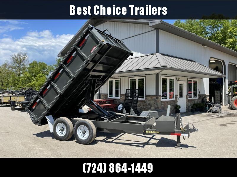 "2021 Corn Pro 7x14' Deckover Dump Trailer 14000# GVW * UNDERMOUNT RAMPS * GREY * RUNNING BOARDS * URETHANE PAINT * OVERSIZE 6"" SCISSOR * 7GA FLOOR * 8"" FRAME"