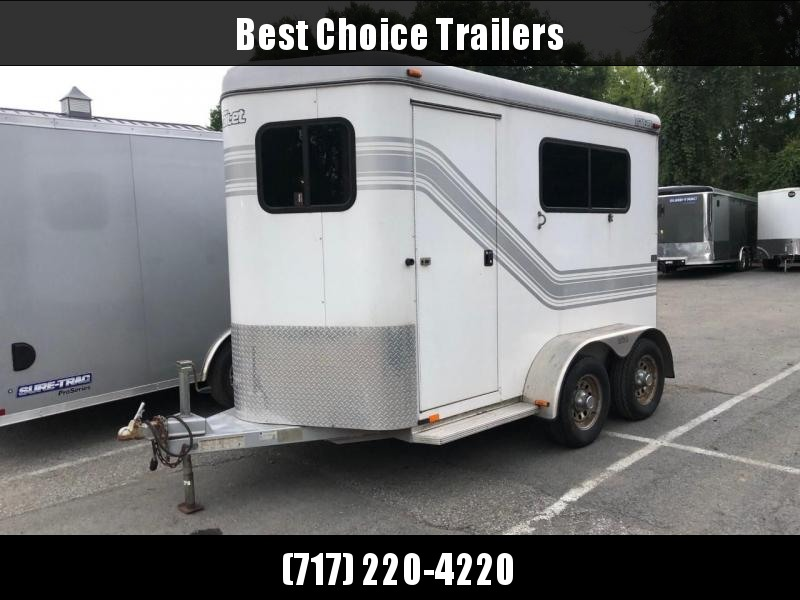 USED 2006 Trail-Et 12' 2-Horse Straight Load Trailer * WINDOWS * RAMP * MATS AND DIVIDERS * RUNNING BOARDS * SPARE TIRE