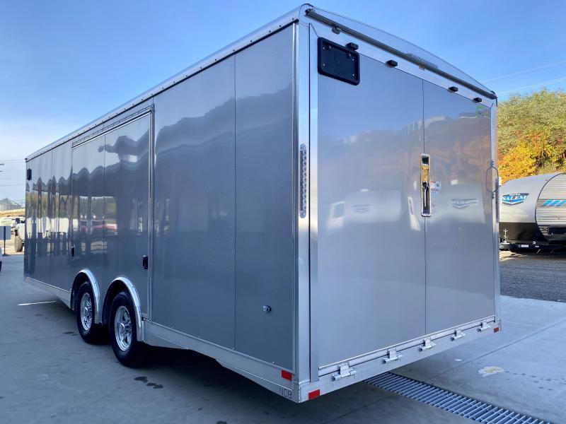 2021 NEO 8.5x22' NCBS Aluminum Enclosed Car Trailer 9990# GVW * POWER PKG 110V AND 12V * NUDO FLOOR/RAMP * FULL ESCAPE DOOR * SPREAD AXLE * INTEGRATED FRAME * REAR SPOILER * ALUMINUM WHEELS * SCREWLESS * 1PC ROOF * RV DOOR * NXP LATCHES