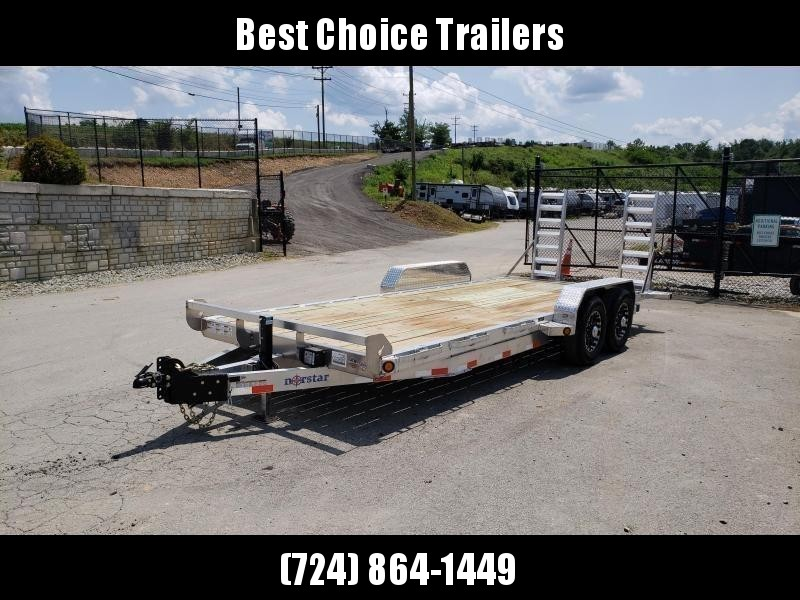 2019 Ironbull 7x20' Aluminum Equipment Trailer 14000# GVW * STACKED ALUMINUM FRAME * DEXTER AXLES * ALUMINUM STAND UP RAMPS * ALUMINUM WHEELS * RUBRAIL/STAKE POCKETS/CHAIN SPOOLS/D-RINGS * REMOVABLE FENDERS