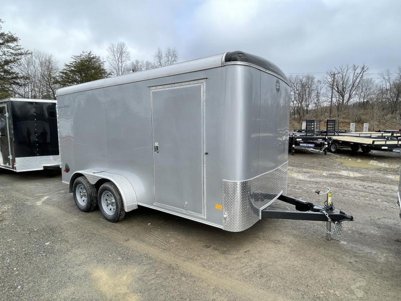 "2021 Wells Cargo 7x14' Road Force Enclosed Cargo Trailer 7000# GVW * SILVER EXTERIOR * BARN DOORS * ROUND TOP * SCREWLESS .030 EXTERIOR * 6'6"" HEIGHT * TUBE STUDS * 1 PC ROOF * 16"" O.C. WALLS/FLOOR * RV DOOR * ARMOR GUARD * BULLET LED'S"
