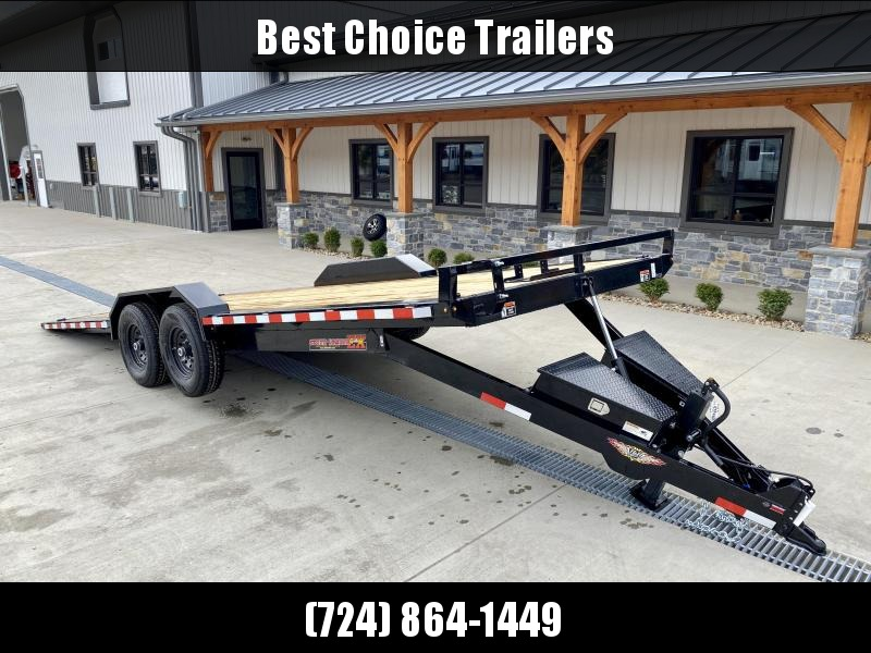 2021 H&H 102x22' Power Tilt Buggy Car Hauler Trailer 14000# GVW * DUAL TOOLBOXES * DRIVE OVER FENDERS * OUTRIGGERS * WINCH PLATE * ADJUSTABLE COUPLER * 12K DROP LEG JACK * SPARE TIRE MOUNT * RUBRAIL/STAKE POCKETS/D-RINGS
