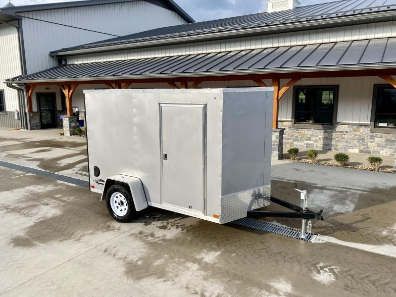 """2021 ITI Cargo 6x10' Enclosed Cargo Trailer 2990# GVW * SILVER EXTERIOR * .030 SEMI-SCREWLESS * 1 PC ROOF * 3/8"""" PLYWOOD WALLS * 3/4"""" FLOOR * 16"""" STONEGUARD * HIGH GLOSS PAINTED FRAME"""