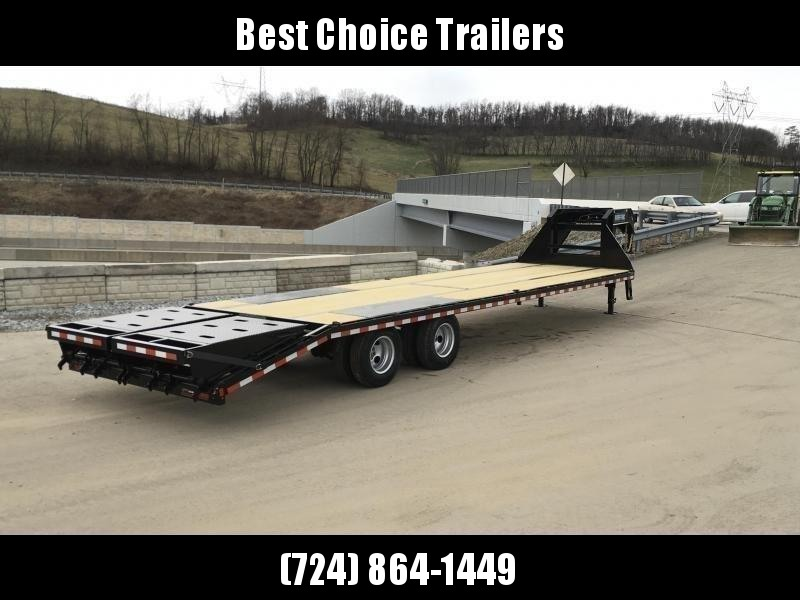 """2019 Sure-Trac 102x40' Gooseneck Beavertail Deckover Trailer 22500# GVW * FULL WIDTH RAMPS (STAND UP OR FLIPOVER) * DEXTER AXLES * 12"""" PIERCED I-BEAM * RUBRAIL/STAKE POCKETS/PIPE SPOOLS/10 D-RINGS * CROSS TRAC BRACING * CLEARANCE"""