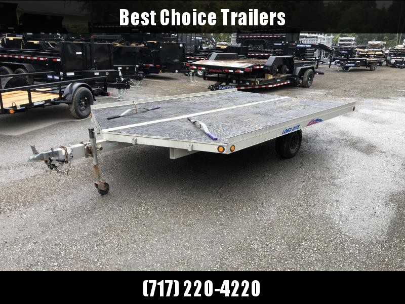 USED Load Rite 102x14' Snowmobile Trailer 2200# GVW