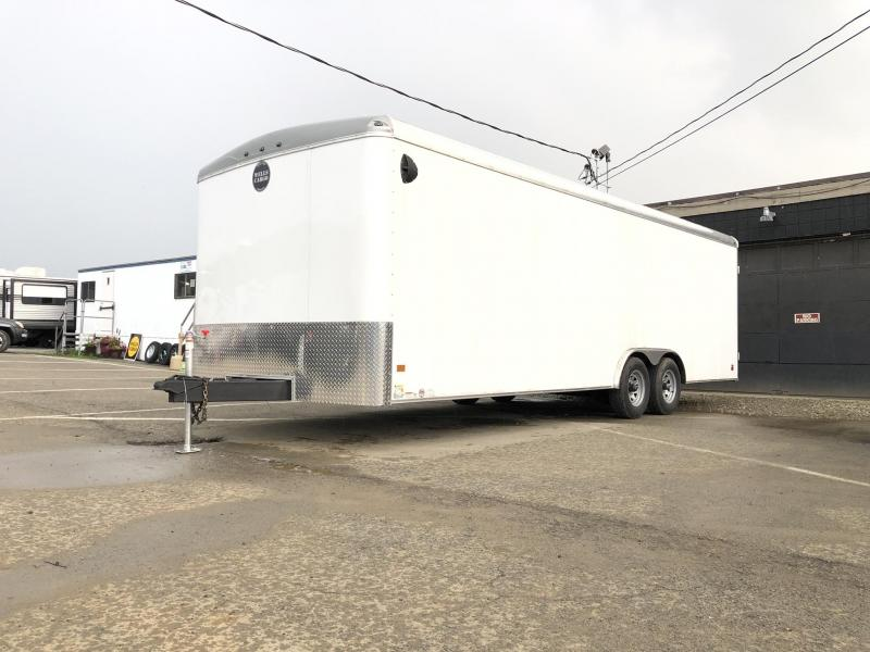 "2021 Wells Cargo 8.5x24' Road Force Enclosed Car Trailer 9990# GVW * BLACK EXTERIOR * 5200# DEXTER AXLES * RAMP DOOR * ROUND TOP * SCREWLESS .030 EXTERIOR * 6'6"" HEIGHT * TUBE STUDS * 1 PC ROOF * RV DOOR * ARMOR GUARD * TRIPLE TONGU"
