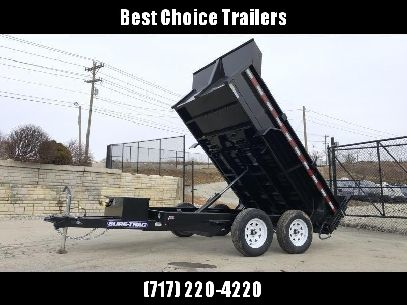 2022 Sure-Trac 6x10' Dump Trailer 7000# GVW * UNDERMOUNT RAMPS * COMBO GATE * FRONT/REAR BULKHEAD * INTEGRATED KEYWAY * SPARE MOUNT * TARP PREP * D-RINGS * HD FENDERS * POWER UP/ DOWN * TRIPLE TUBE TONGUE * POWDERCOATED * SEALED HARNESS