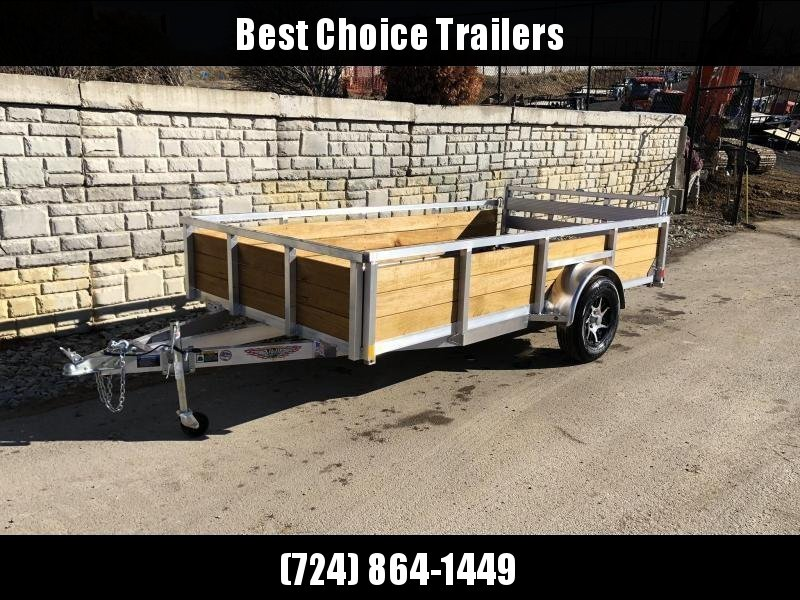 "2020 H and H 76x10' Aluminum Wood High Side Utility Landscape Trailer 2990# GVW * 2' HIGH SIDES * BI FOLD GATE * ALUMINUM WHEELS * TUBE TOP * TRIPLE TUBE TONGUE * TUBE TONGUE * SWIVEL JACKS * STAKE POCKETS * EXTENDED 54"" GATE"